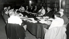 Meeting of the CBF organizing committee on April 28, 1978, at Rockefeller University, NY (Charles Babbage Institute, University of Minnesota, MN)