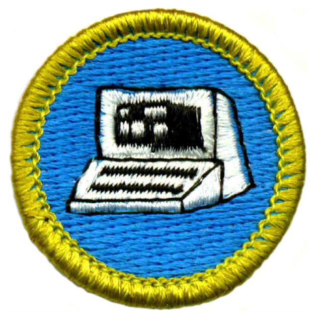 The Boy Scouts of America added a merit badge on computers in 1967