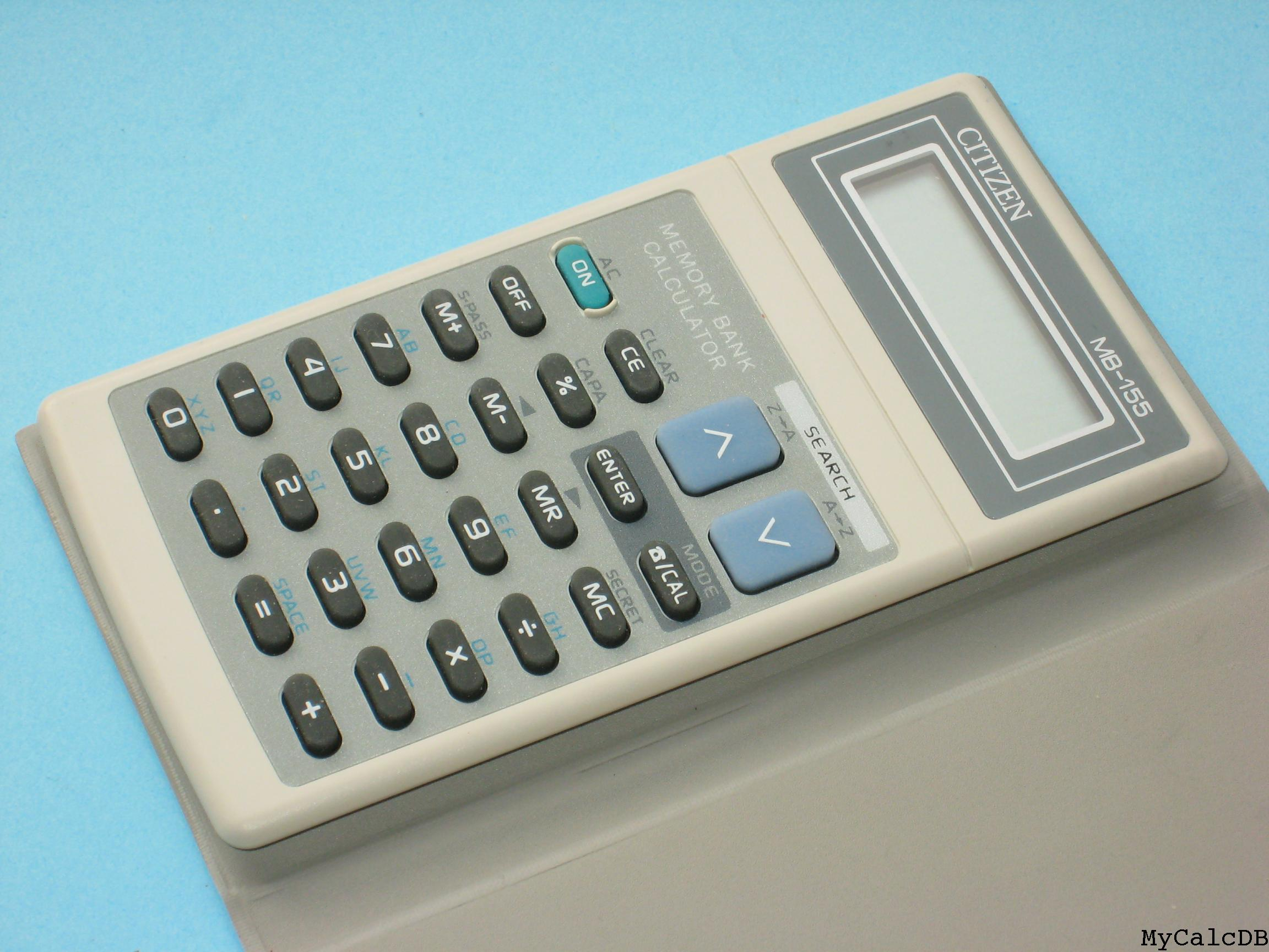 Citizen Mb 155 It History Society Calculator