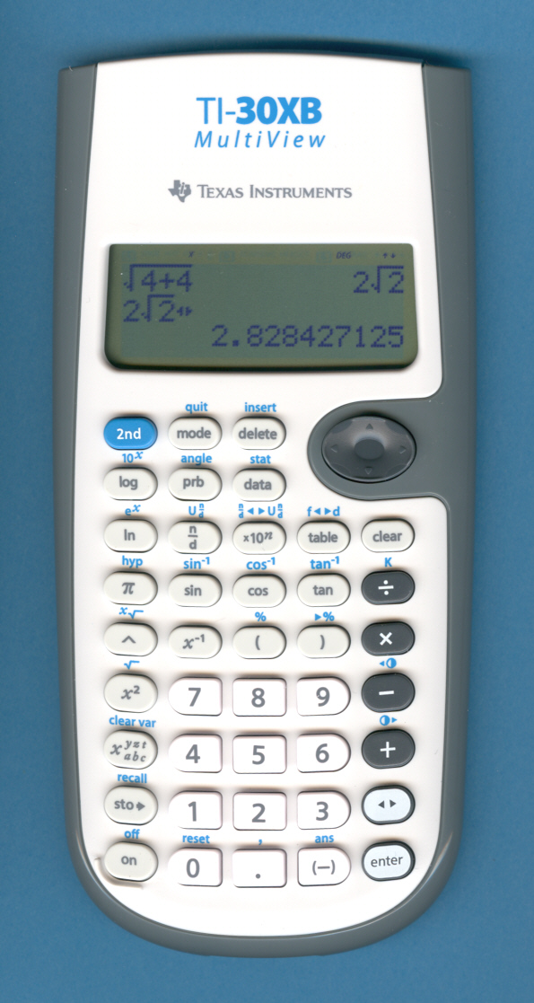 how to use the ti 30x iis for algebra